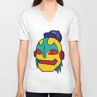 dope V-neck T-shirts featuring Dope by The Dopest Robot