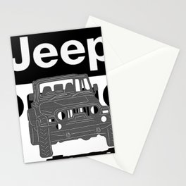 Jeep On the road Stationery Cards