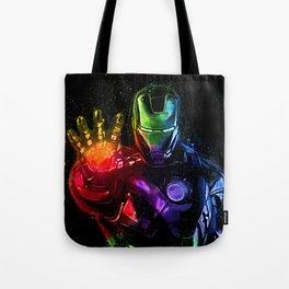 Avenger Infinity Wars Iron Man Abstract Painting - Iron Man Graffiti Tote Bag