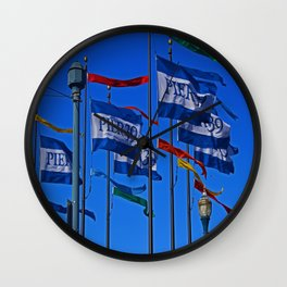 The Flags at Pier 39 Wall Clock