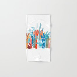 Coral Watercolor Family Hand & Bath Towel