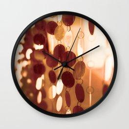 GLAM CIRCLES #Orange #1 Wall Clock