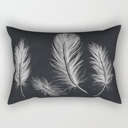 Chalk feather collection Rectangular Pillow