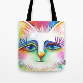 Twinkles Abstract Art Cat Painting  Tote Bag