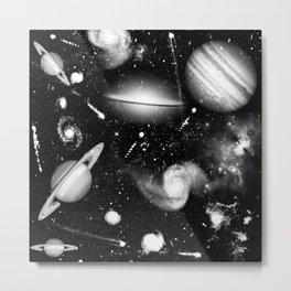 Monochromatic Galaxy Art Metal Print