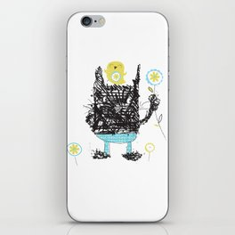 Black cats dig velour! iPhone Skin