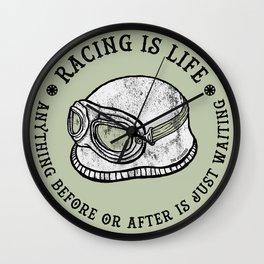 racing is life Wall Clock