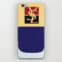 ysl iPhone & iPod Skins featuring YSL nail polish  by MashArt