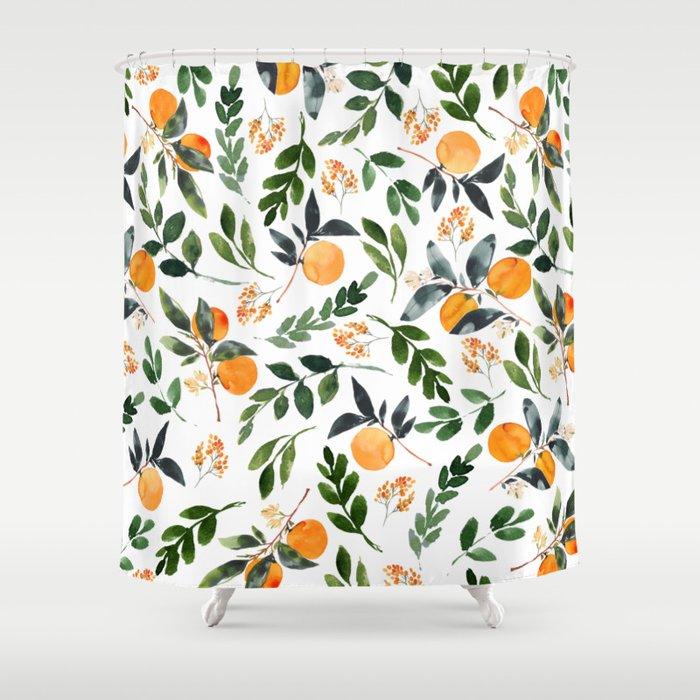 Orange Grove Shower Curtain