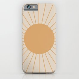 Minimal Sunrays iPhone Case