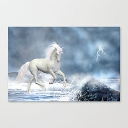 White Unicorn Canvas Print