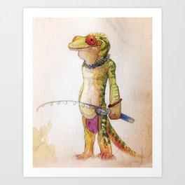 Gecko Fisher Art Print