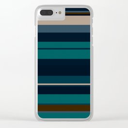 minimalistic horizontal stripes pattern hbi Clear iPhone Case
