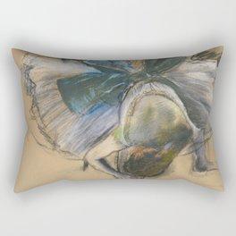 "Edgar Degas ""Dancer arranging her shoe"" Rectangular Pillow"