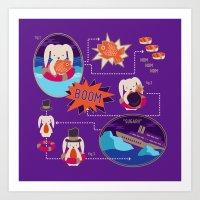 BUNNY SHIPWRECK FLOWCHART Art Print