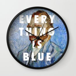 Vincent van Gogh, Self portrait (1889) / Halsey, Colors (2015) Wall Clock