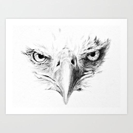 Eagle Art Print By Anna Shell Society6