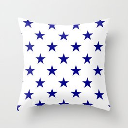 Stars (Navy Blue/White) Throw Pillow
