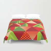 strawberry Duvet Covers featuring strawberry by Gray