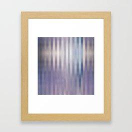 Lilac blue stripes Framed Art Print