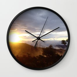 Sunset over the jungle in Costa RIca Wall Clock