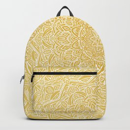 0dcc0552a0 Most Detailed Mandala! Yellow Golden Color Intricate Detail Ethnic Mandalas  Zentangle Maze Pattern Backpack