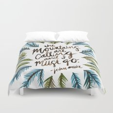 Mountains Calling Duvet Cover