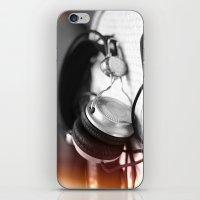 headphones iPhone & iPod Skins featuring Headphones by Vanessa Wanderer