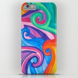 Colorful Swirls iPhone Case