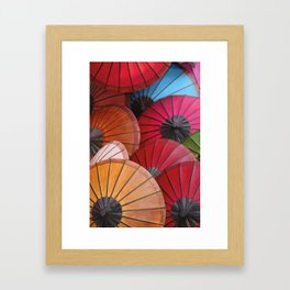 Paper Colored Umbrellas from Laos Framed Art Print