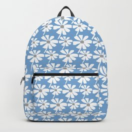 Daisies In The Summer Breeze - Blue Grey White Backpack