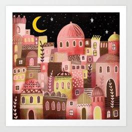 Pink Palaces Art Print