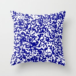 Small Spots - White and Dark Blue Throw Pillow