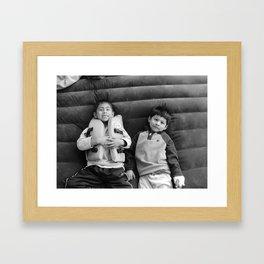 Bros! Framed Art Print