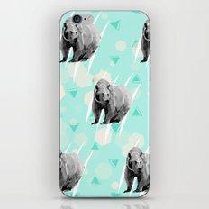 Bears pattern with geometric background iPhone & iPod Skin