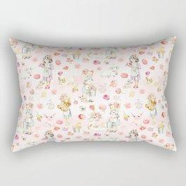 Little girls on the farm Rectangular Pillow
