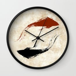 Koi Fish | Gold Wall Clock