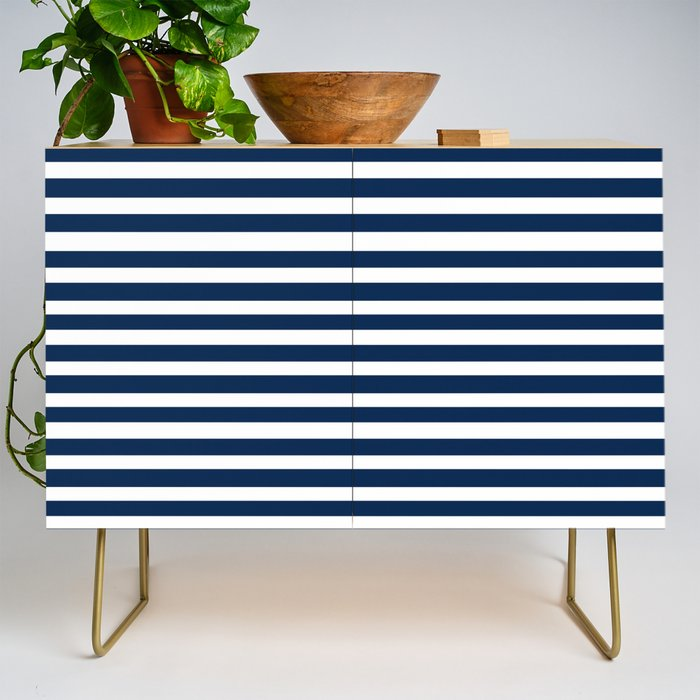 Navy-White ( Stripe Collection ) Credenza