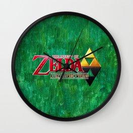 THE LEGEND OF ZELDA BW Wall Clock