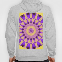 Bold Purple and Yellow Mandala Hoody