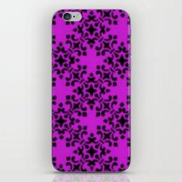 Vintage Brocade Damask Dazzling Violet iPhone Skin