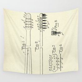 Toothbrush-1953 Wall Tapestry