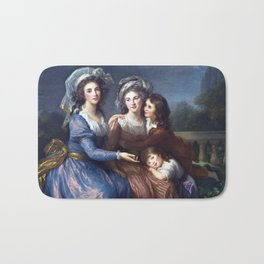 Élisabeth Vigée Le Brun The Marquise de Pezay, and the Marquise de Rougé with her sons Alexis and Ad Bath Mat