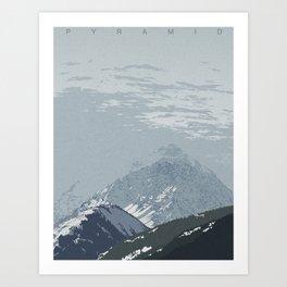Pyramid Peak Art Print