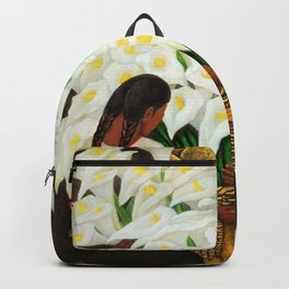Vendedora de Alcatraces - Calla Lily Flower Sellers by Diego Rivera Backpack