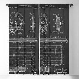 Vintage Face Mask Patent Blackout Curtain