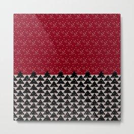Pixel Forest Metal Print