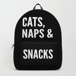 Cats, Naps & Snacks (Black) Backpack