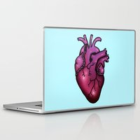 anatomical heart Laptop & iPad Skins featuring Anatomical Heart by Hungry Designs