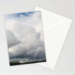 Clouds above the lake Stationery Cards
